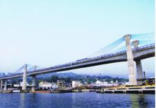 早川港に架かるブルーウェイブリッジ