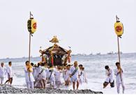 近戸神社祭典の渡御